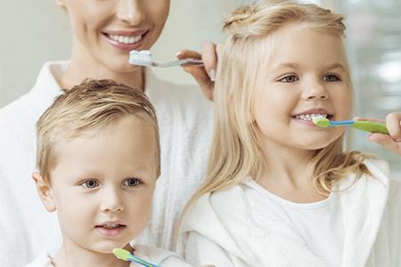family teeth brush